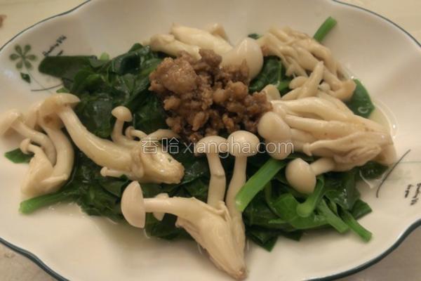 菇菇拌芥蓝菜的做法