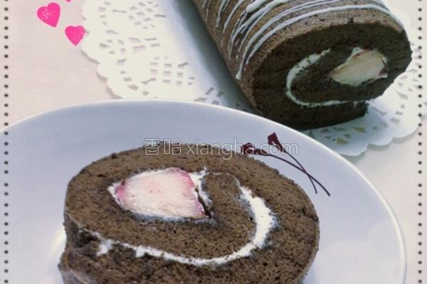 草莓巧克力蛋糕卷的做法