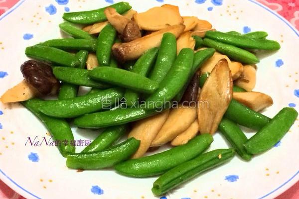 甜豆素炒杏苞菇的做法