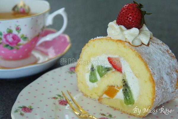 水果蛋糕卷的做法