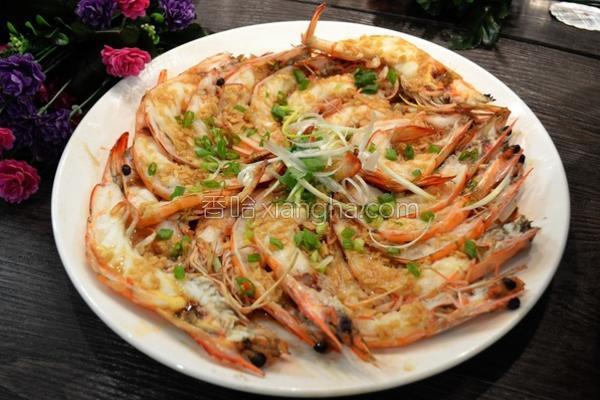 简易酱汁蒜泥蒸虾的做法
