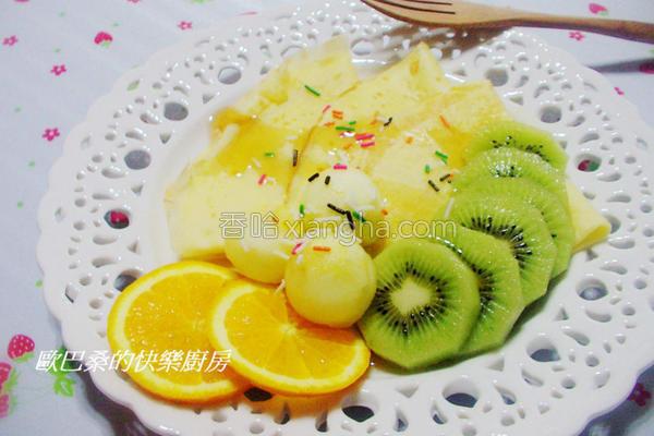 鲜果法式薄饼的做法