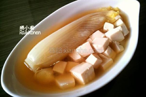 白菜味噌汤的做法