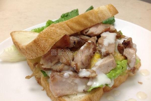 鸡腿三明治的做法