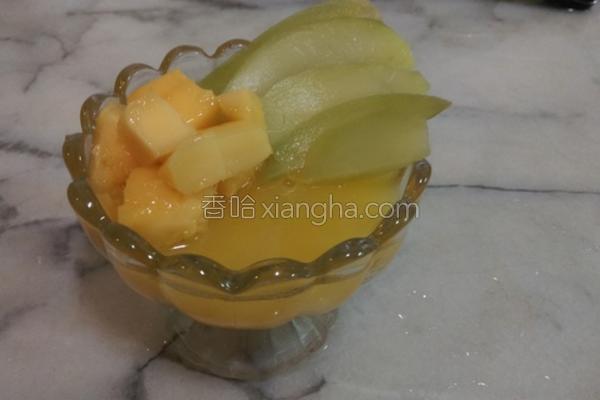 芒果寒天冻的做法