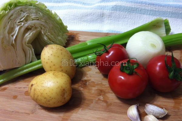 田园蔬菜牛肉汤的做法