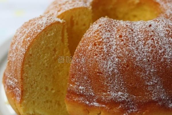 柳橙风味环形蛋糕的做法