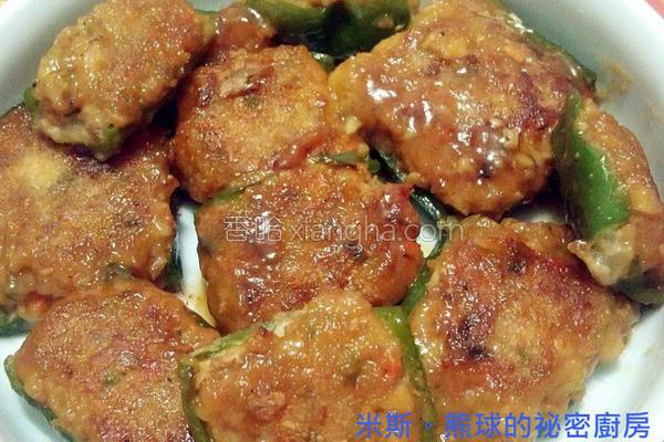 青椒镶肉的做法