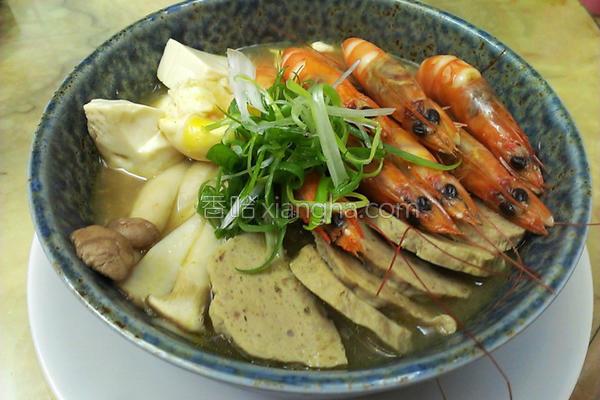 绿咖哩鲜虾冬粉的做法