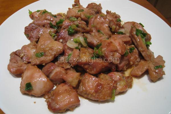 粉猪儿日式烤鸡丁的做法