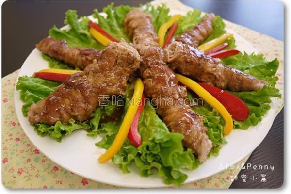 葱烧猪肉卷的做法