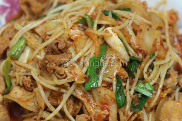 韩式泡菜炒肉片的做法