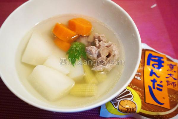 台式萝卜排骨汤的做法