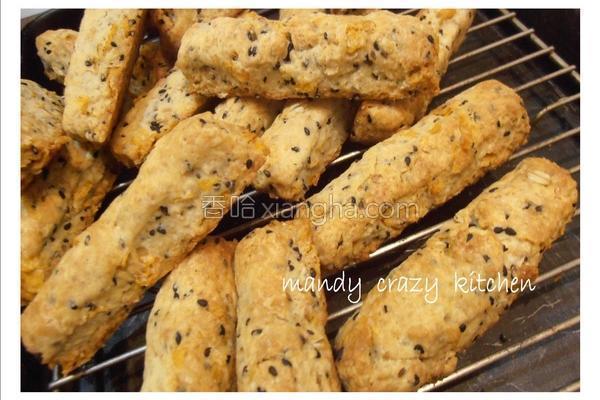 芝麻麦片硬饼干的做法