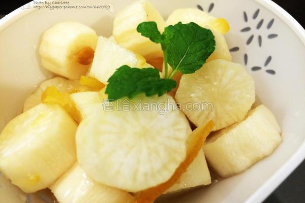 柚香白玉萝卜的做法