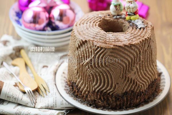 耶诞戚风树干蛋糕的做法