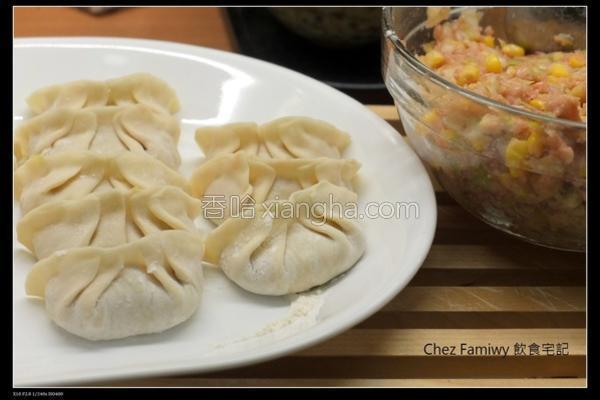 高丽菜玉米水饺的做法