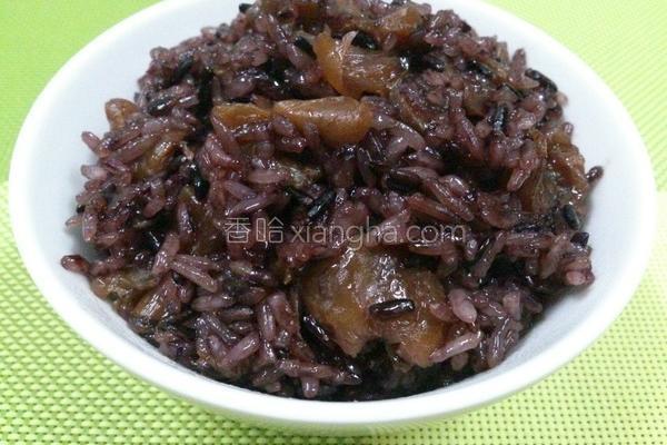 酒香桂圆糯米饭的做法