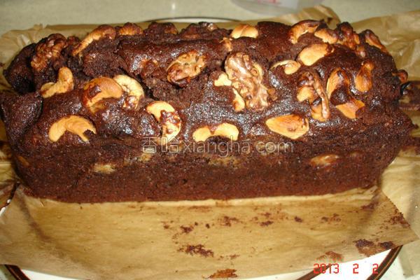 香蕉巧克力布朗尼的做法