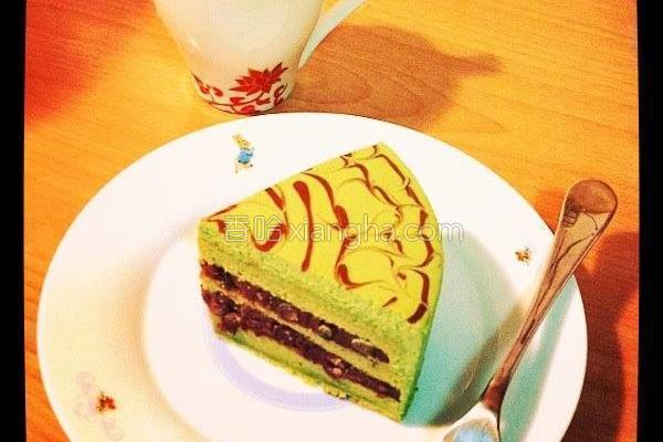 宇治红豆抹茶蛋糕的做法