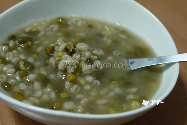 绿豆薏仁汤的做法