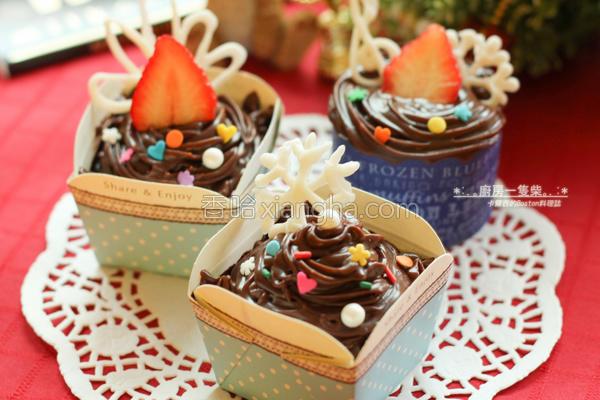 坚果巧克力小蛋糕的做法