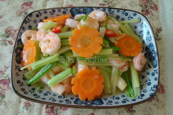 芹菜炒虾仁的做法