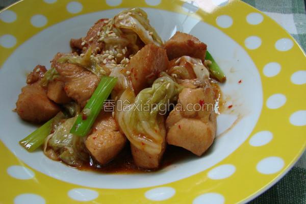 泡菜煨鸡的做法