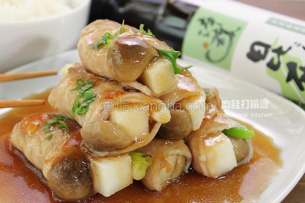 酱淋竹笋肉卷的做法