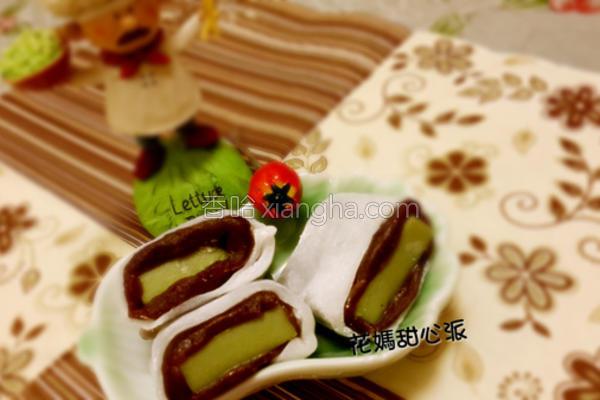 抹茶红豆雪娘糕的做法