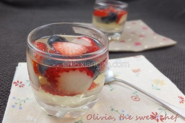 莓果甜酒冻的做法