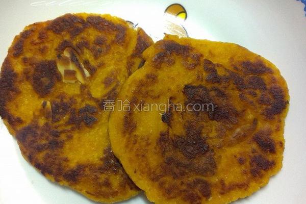 地瓜杏仁煎饼的做法