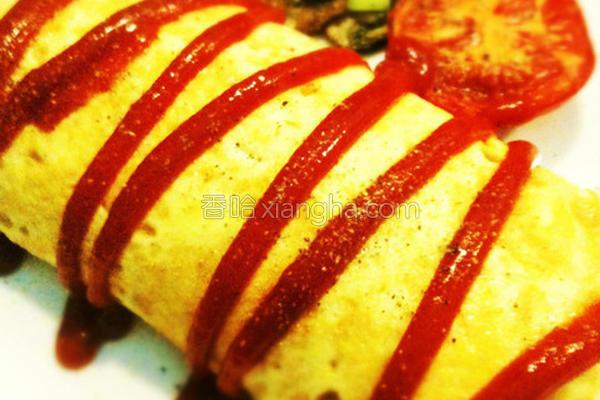 蔬菜磨菇蛋包炒饭的做法