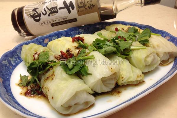 地瓜高丽菜卷的做法