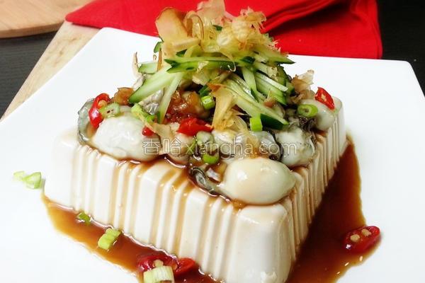 凉拌鲜蚵豆腐的做法