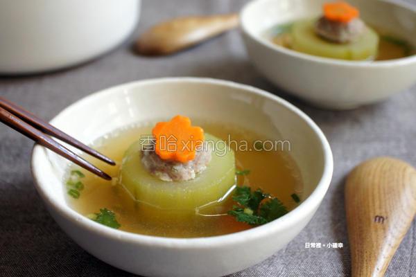 大黄瓜镶肉汤的做法