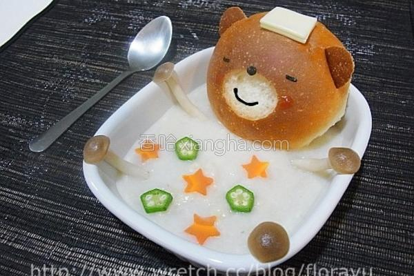 面包熊爱泡澡的做法
