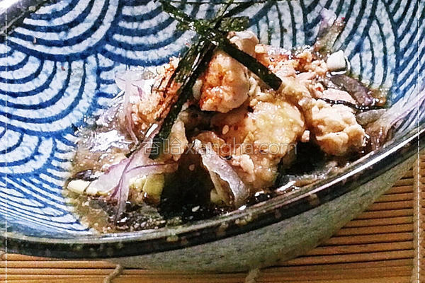 日式鳕鱼嫩肝沙拉的做法