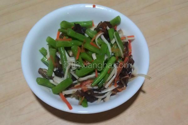 四季豆炒三丝的做法