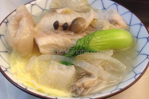 菇菇鲷鱼片锅的做法