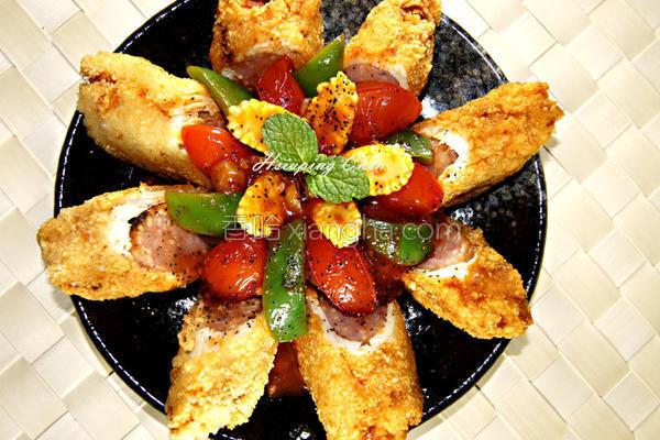 番茄鸡肉卷的做法