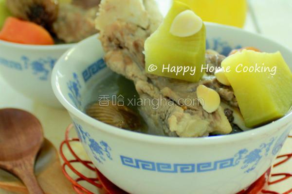 青红萝卜猪骨汤的做法