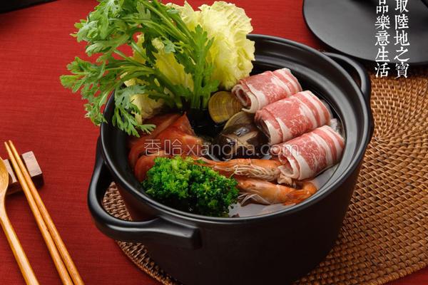陶锅料理杂炊火锅的做法