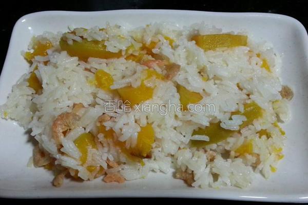 南瓜虾米饭的做法