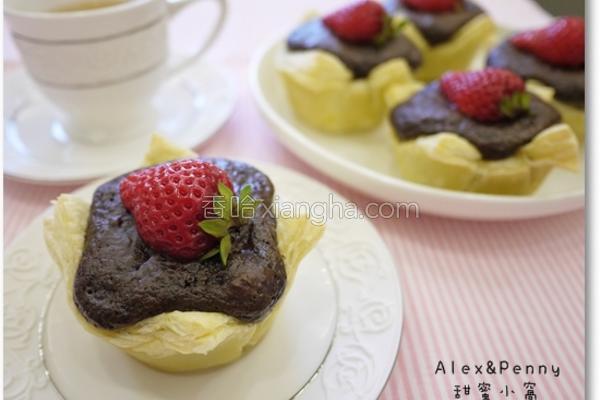 草莓巧克力酥皮塔的做法