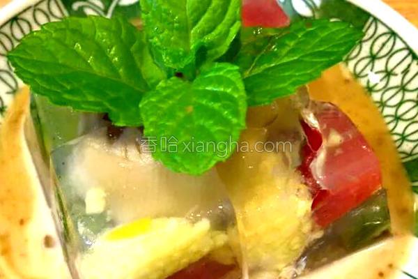 蔬菜冻沙拉的做法