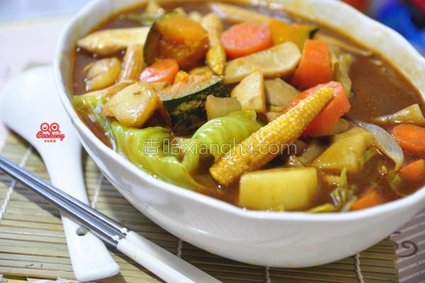 咖哩鲜蔬汤的做法