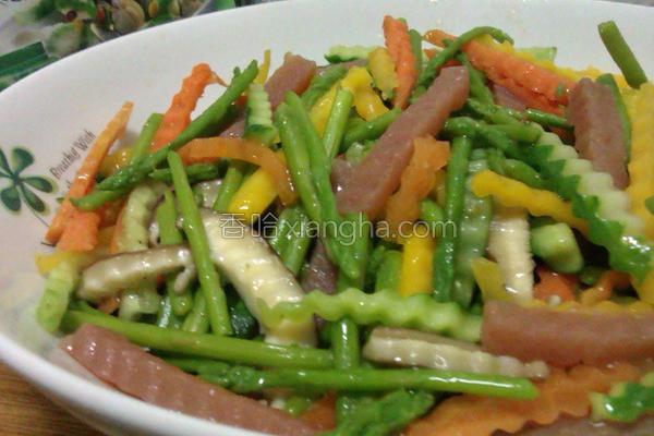 魔芋鲜彩时蔬的做法