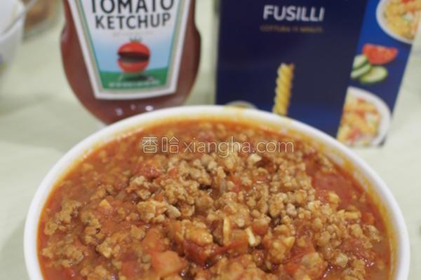 百搭茄汁肉酱煮的做法