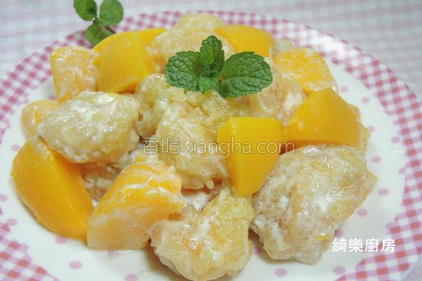 蜜桃优酪鲜虾球的做法